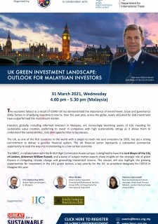 UK Green Investment Landscape: Outlook for Malaysian Investors