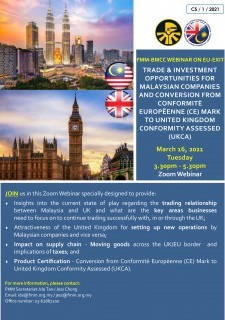 FMM-BMCC Webinar On EU-Exit: Trade & Investment Opportunities For Malaysian Companies And Conversion