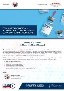 COVID-19 Vaccination – A Timely Talk to Address Your Concerns and Expectations