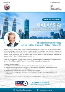 BMCC Digital Forum: Malaysia – A Resilient And Preferred Destination For British Exports And Investm