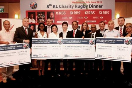 BMCC Charity Rugby Cheque Presentation 2012
